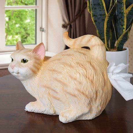 Cat Butt Tissue Dispenser - Orange Tabby